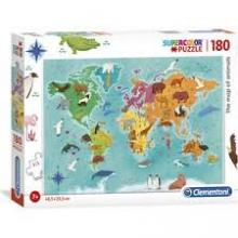 THE MAP OF ANIMALS PUZZLE SUPER 180PCS